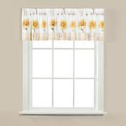 Sunflowers & Honey Bees kitchen curtain valance