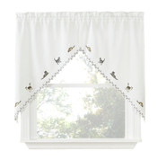 Cats Embroidered Kitchen Curtain swag