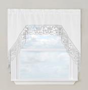 Maribel kitchen curtain swag - Silver