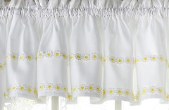 Daisy Mae kitchen curtain valance - Yellow