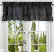 Stacey kitchen curtain valance - Black
