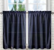 """Stacey 36"""" kitchen curtain tier - Navy Blue"""