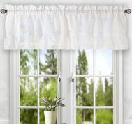 Stacey kitchen curtain valance - White