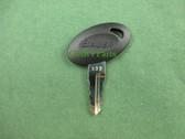 Bauer   Code 332   RV Entry Door Lock Replacement Key
