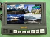 Weldex WDRV-7464M Rear View 7 Inch Backup Monitor 4 Camera Inputs Quad View