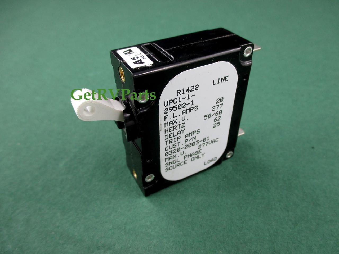 Onan Cummins 320 2003 01 Rv Generator Circuit Breaker 20 Amp