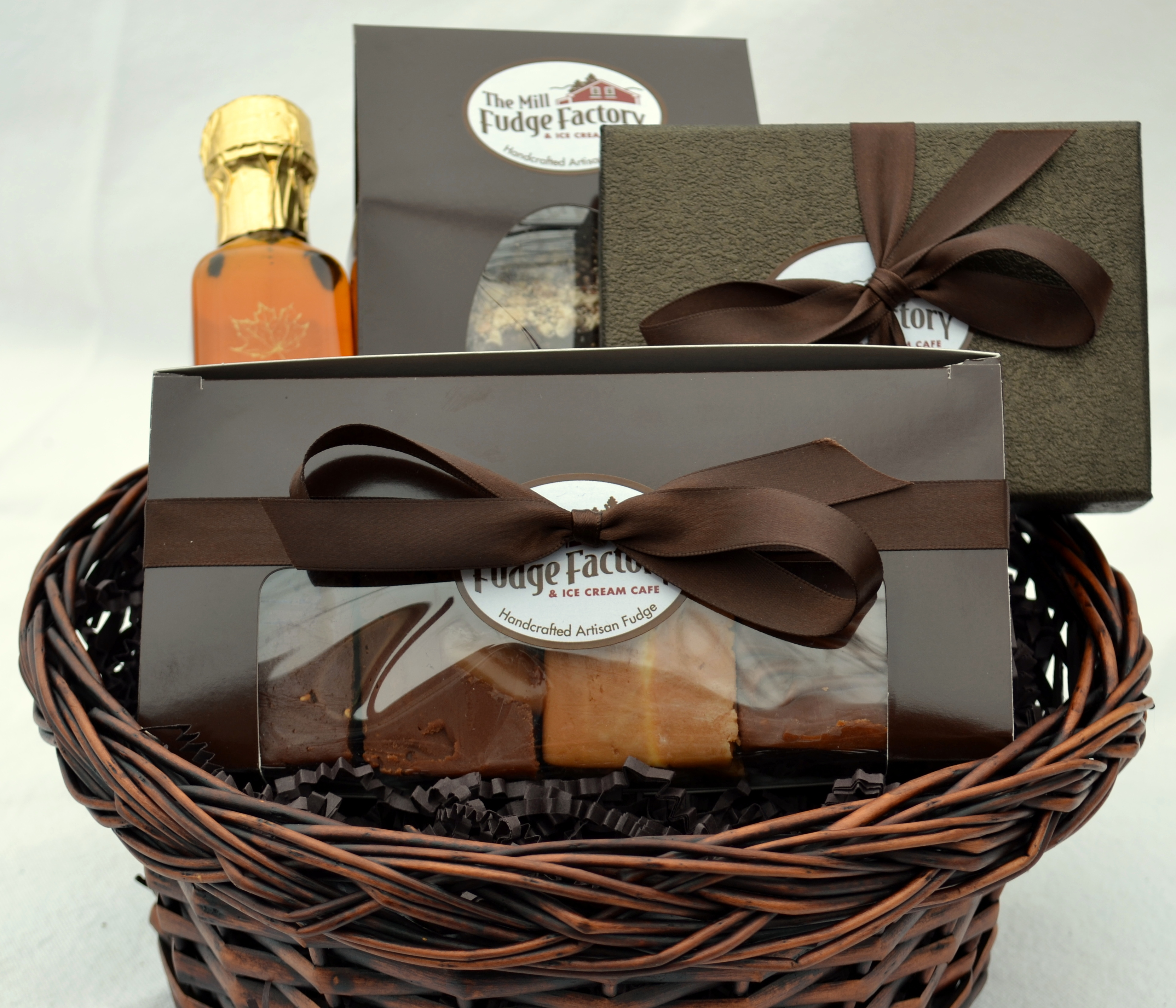 Chocolate Gift Basket - Fudge, Toffee, and Syrup