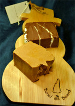Snowman Cutting Board with Two Slices of Fudge