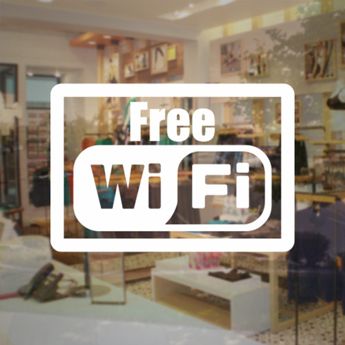 Free wifi vinyl decal store sign