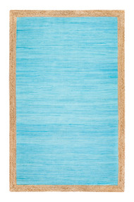 Aganippe Hand-Loomed Blue Area Rug  - 5' x 7'
