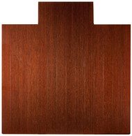"Bamboo Deluxe Roll-Up Chairmat, 55"" x 57"", with lip - Dark Cherry"