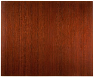 "Bamboo Deluxe Roll-Up Chairmat, 60"" x 48"", no lip - Dark Cherry"