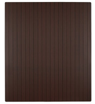 "Bamboo Roll-Up Chairmat, 42"" x 48"", no lip - Dark Cherry"