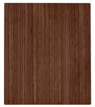 "Bamboo Roll-Up Chairmat, 42"" x 48"", no lip - Walnut"