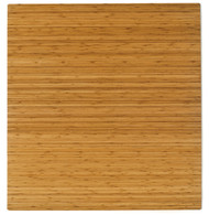 "Bamboo Roll-Up Chairmat, 52"" x 48"", no lip - Natural"