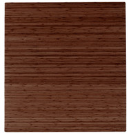 "Bamboo Roll-Up Chairmat, 52"" x 48"", no lip - Walnut"
