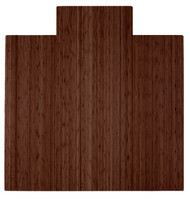 "Bamboo Roll-Up Chairmat, 55"" x 57"", with lip - Walnut"