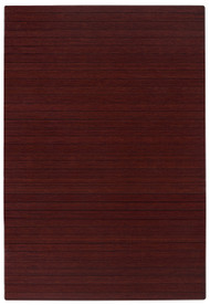 "Bamboo Roll-Up Chairmat, 72"" x 48"", no lip - Dark Cherry"