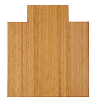 "Bamboo Tri-Fold Plush Chairmat, 47"" x 51"", with lip - Natural"