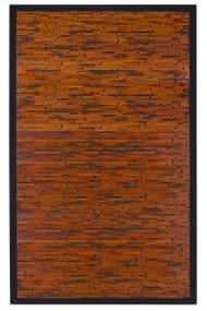 Cobblestone Mahogany Bamboo Rug - 4' x 6'