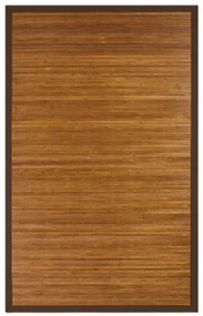 Contemporary Chocolate Bamboo Rug - 5' x 8'