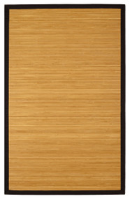 Contemporary Natural Bamboo Rug - 5' x 8'