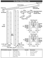 Hager Pocket Door Kit-9630