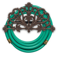 Whitehall Filigree Hose Holder - Oiled-Rubbed Bronze - Aluminum