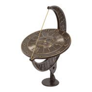 Whitehall Sun and Moon Sundial - French Bronze - Aluminum