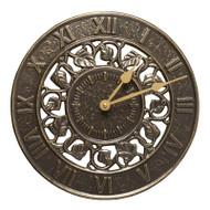 Whitehall Ivy Silhouette Clock - French Bronze - Aluminum