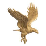 Whitehall 30  Full-Bodied Eagle Weathervane - Gold-Bronze - Aluminum