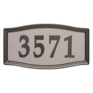 Whitehall Easy Street Address Sign - Aged Bronze - Stamped Steel
