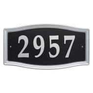 Whitehall Easy Street Address Sign - Nickel  - Stamped Steel