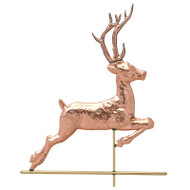 Whitehall Copper Deer Weathervane - Polished - Copper