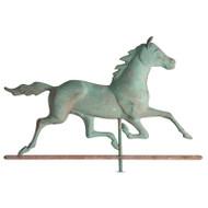 Whitehall Copper Horse Weathervane - Verdigris - Copper