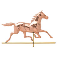 Whitehall Copper Horse Weathervane - Polished - Copper