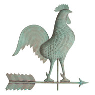 Whitehall Copper Rooster Weathervane - Verdigris - Copper