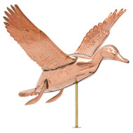 Whitehall Copper Duck Weathervane - Polished - Copper