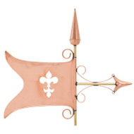 Whitehall Copper Banner Weathervane - Polished - Copper