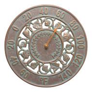 Whitehall Ivy Silhouette Thermometer - Copper Verdigris - Aluminum