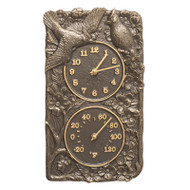 Whitehall Cardinal Combo Clock And Thermometer - French Bronze - Aluminum