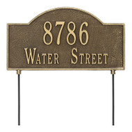 Whitehall Personalized 2-Sided Arch plaque - Standard - Lawn - 2 Line