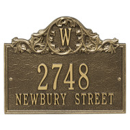 Whitehall Personalized Acanthus Monogram Plaque - Wall - 3 line
