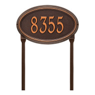 Whitehall Personalized Concord Oval Plaque - Standard - lawn - 1 Line