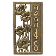 Whitehall Personalized Flowering Poppies Plaque - Vertical - 1 Line