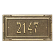 Whitehall Personalized Gardengate Plaque - Grande - Wall - 1 line
