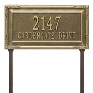Whitehall Personalized Gardengate Plaque - Grande - Lawn - 2 line
