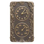 Whitehall Acanthus Indoor Outdoor Wall Clock & Thermometer