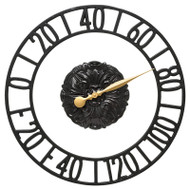 """Whitehall Cambridge Floating Ring 21"""" Indoor Outdoor Wall Thermometer"""
