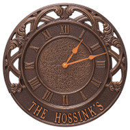"""Whitehall Chateau 16"""" Personalized Indoor Outdoor Wall Clock"""